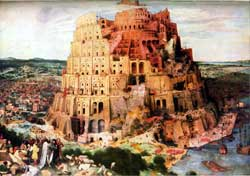 Pieter Bruegel's 1563 depiction of the Tower of Babel