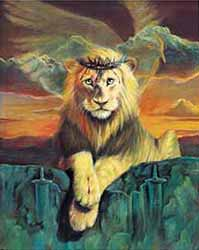 """The Lion of Judah"" by contemporary Christian artist William Hallmark of Alabama"