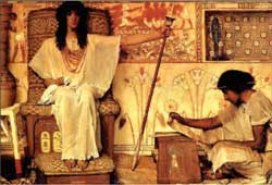A depiction of Joseph overseeing the pharaoh's granaries by English painter Sir Lawrence Alma-Tadema (1836-1912)