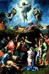 An image of the Transfiguration altarpiece by Raphael (1483-1520), said to be one of Europe's greatest artists